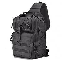 Штурмовой Тактический Рюкзак однолямочный Военный 20 литров | Черный, фото 1