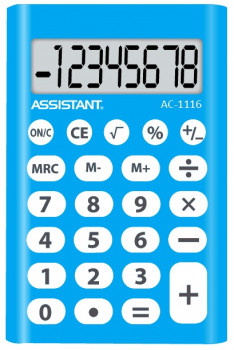 Калькулятор ASSISTANT AC-1116 blue