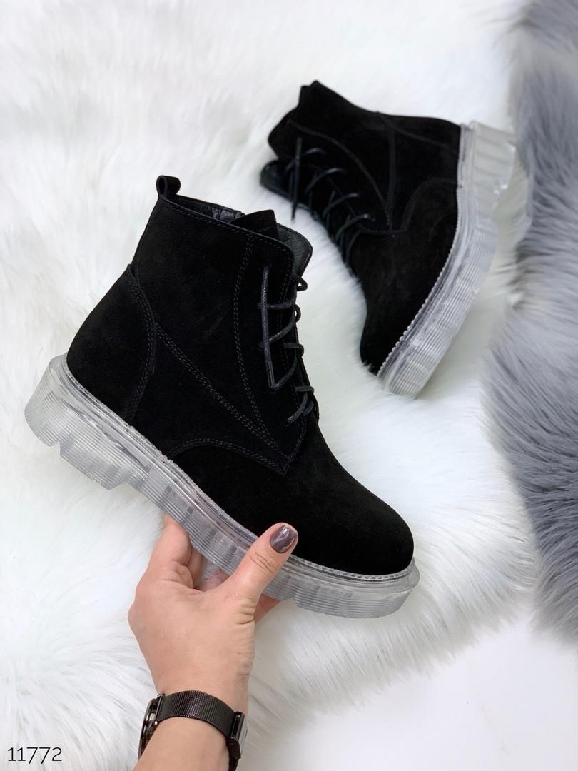 Ботинки черные зима