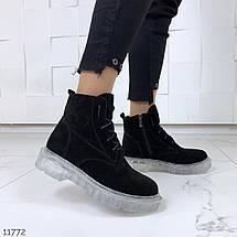 Ботинки черные зима, фото 3