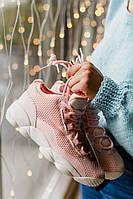 Женские кроссовки  Fila Spaghetti Pink розовые. Размеры (37,38,39)