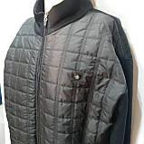 Чоловіча кофта тепла XL, на блискавці, чорна, фото 3