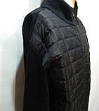 Чоловіча кофта тепла XL, на блискавці, чорна, фото 4