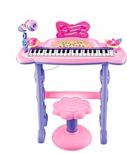 Дитяче піаніно-синтезатор 6613 зі стільчиком