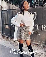 Женская теплая юбка из твида