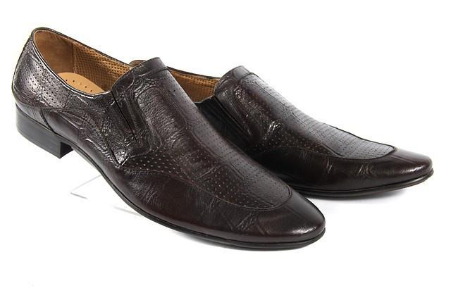 Летние мужские туфли LOUIS ALBERTI H93  45  коричневый