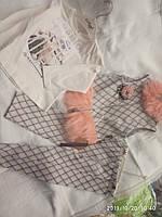 Костюм для девочки, нарядный 2,3,4 года, с меховой вставкой, тёплый, Турция