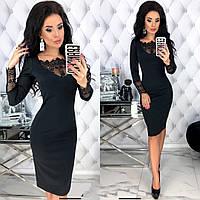 Стильное платье черного цвета 42-44, 46-48 р-р.