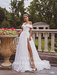 Свадебное платье № 2039 в наличии без разреза