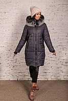 Зимнее женское пальто с экомехом сезона зима 2020 - (арт Ника к-15)