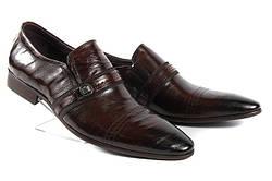 Стильные мужские классические кожаные туфли LOUIS ALBERTI 582-05-505  45  коричневый