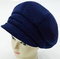 """Шерстяные женские шапки """"Кепка БОЦА"""" (темно синий), фото 1"""