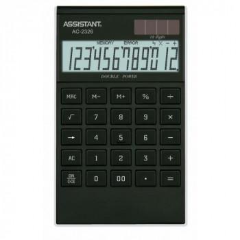 Калькулятор ASSISTANT AC-2326  (black/silver)