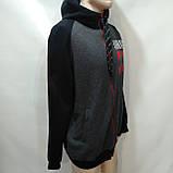 Чоловіча тепла кофта c капюшоном великий розмір р. 54,56, фото 4