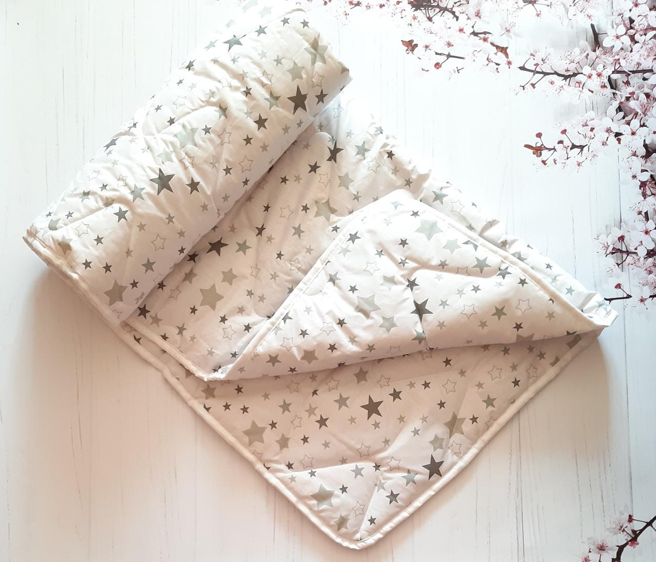 Зимнее детское одеяльце хлопок/овчина