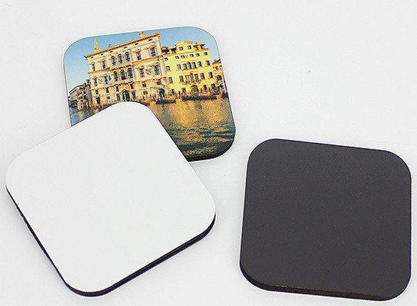 Керамический квадратный магнит с возможностью нанесения любого рисунка, фото 2