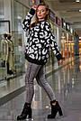 Женский свитер с леопардовым принтом оверсайз, р.42-50, вязка, чёрный, фото 4