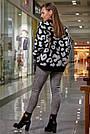 Женский свитер с леопардовым принтом оверсайз, р.42-50, вязка, чёрный, фото 5