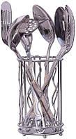 Набор кухонных аксессуаров Kamille Crystal Gold 6 предметов в металлическом стакане psgKM-5231, КОД: 1143773