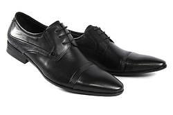 Стильные мужские классические кожаные туфли на шнурках LOUIS ALBERTI LOUIS ALBERTI 582-09-997  44  черный