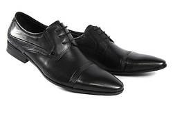 Стильные мужские классические кожаные туфли на шнурках LOUIS ALBERTI 582-09-997  45  черный