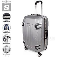 Пластиковый чемодан на колесах ручная кладь, маленький.