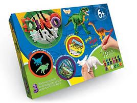 Набор для ручной росписи 3D моделей динозавры  Dino Art