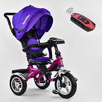 Велосипед 3-х кол. 5890 - 1009 Best Trike (1) ЦВЕТ- Фиолетовый, ПОВОРОТНОЕ СИДЕНИЕ, СКЛАДНОЙ РУЛЬ, Рус.озвучка, НАДУВНЫЕ КОЛЕСА, ПУЛЬТ (свет,звук)
