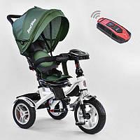 Велосипед 3-х кол. 5890 - 2265 Best Trike (1) ЦВЕТ- Темно-зеленый, ПОВОРОТНОЕ СИДЕНИЕ, СКЛАДНОЙ РУЛЬ, Рус.озвучка, НАДУВНЫЕ КОЛЕСА, ПУЛЬТ(свет,звук)