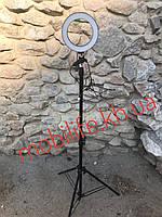 Профессиональная кольцевая светодиодная лампа 16см на штативе для блогера/селфи /фотографа/визажиста/