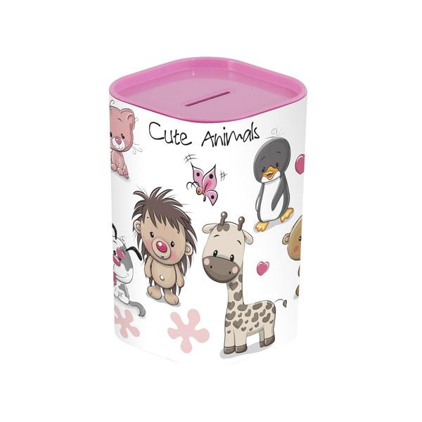 Скарбничка HEREVIN Money BOX Animals Pink