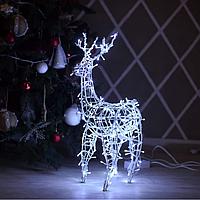 Гирлянда внешняя Adenki Олень новогодний светодиодный 70 см Белый 5-70WHITE, КОД: 258211
