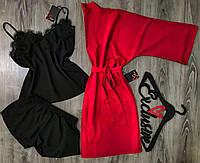 Размер S. Хлопковый домашний комплект пижама и халат