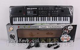 Дитячий орган-синтезатор MQ-012FM від мережі, 61 клавіша, з мікрофоном, фм радіо