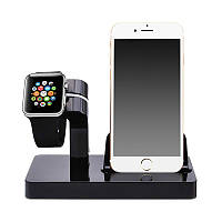 Док-станция Grand Charger Dock для Apple Watch и iPhone Black AL2603, КОД: 1130704