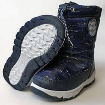 Детские дутики зимние сапоги на зиму для мальчика синий Sport Libang 28р., фото 2