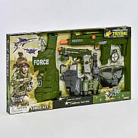 Военный набор 33480 (18) 10 предметов, пистолет со звуковым эффектом, в коробке