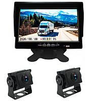 """Видеорегистратор - парковочная система 7"""" RV Van Caravan CMOS AHD 1080P 2 камеры, фото 1"""