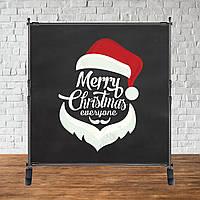 Баннер Новогодний (Черный фон, лицо надпись)