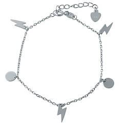 Серебряный браслет на ногу SilverBreeze без камней 23-26 см 1993965, КОД: 1195802