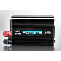 Преобразователь авто инвертор  UKC 12V-220V 500W 000553, КОД: 949701