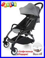 Детская коляска Yoya 165 серый, прогулочная коляска складная yoya 165, дитяча прогулянкова коляска