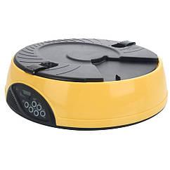 Кормушка для здорового питания с 6 лотками 2 л Желтая 1011, КОД: 218652