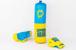 Боксерский набор Danko Toys Украина размер средний Синий с желтым 37-SAN006, КОД: 926183