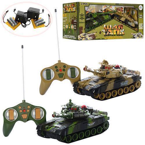 Ігровий набір з танками 9993-2PC на радіокеруванні, акумулятор звук, світло, рухомий корпус