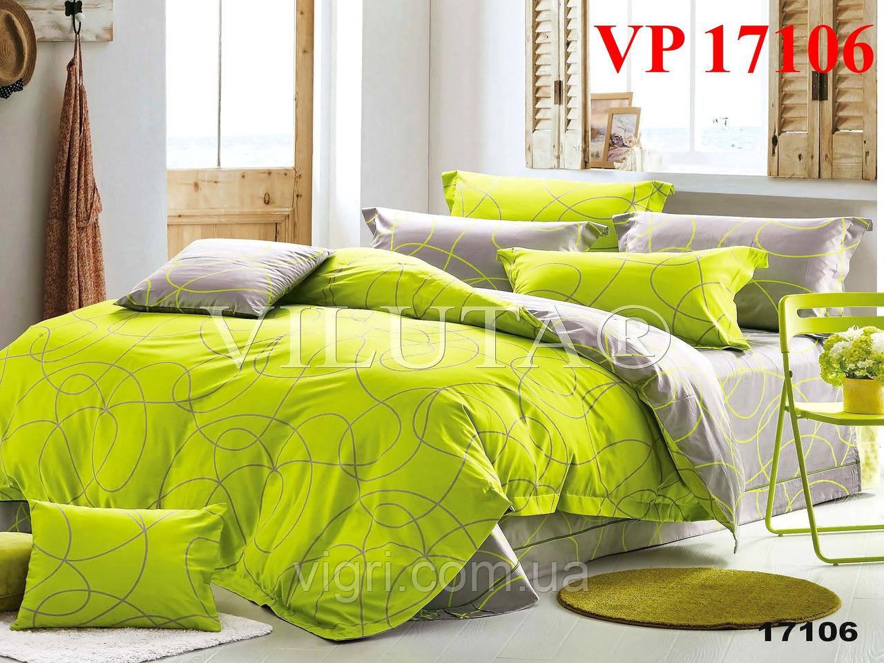 Постельное белье, семейный комплект, ранфорс, Вилюта «VILUTA» VР 17106
