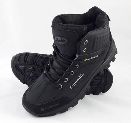 Ботинки ЗИМА-МЕХ Мужские Коламбиа Чёрные (размеры: 41) Видео Обзор, фото 2