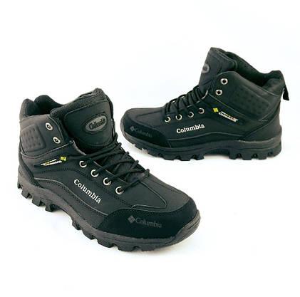 Ботинки Colamb!a ЗИМА-МЕХ Мужские Коламбиа Чёрные (размеры: 41) Видео Обзор, фото 3