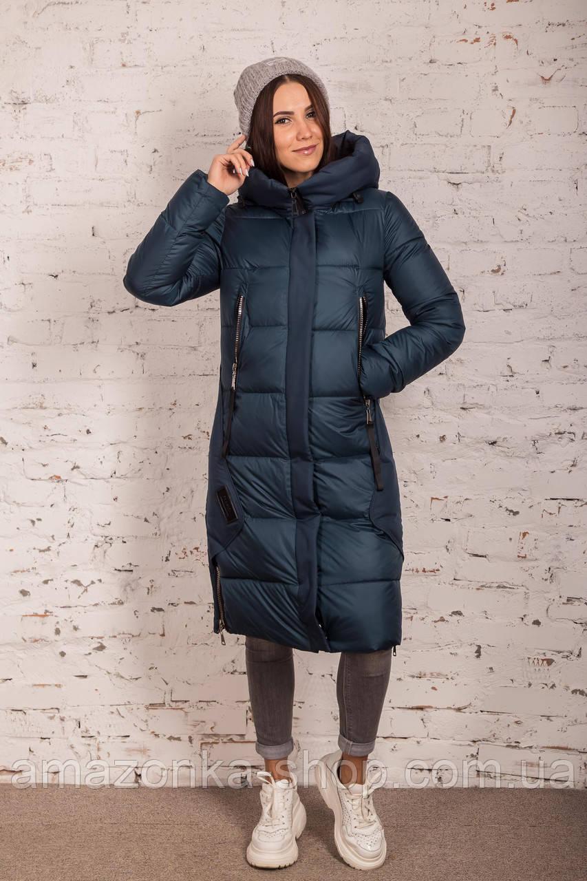 Удлиненное стильное пальто на женщин сезон 2020 - (модель кт-709)