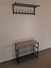 Вешалка металлическая настенная для прихожей СНС2, фото 3
